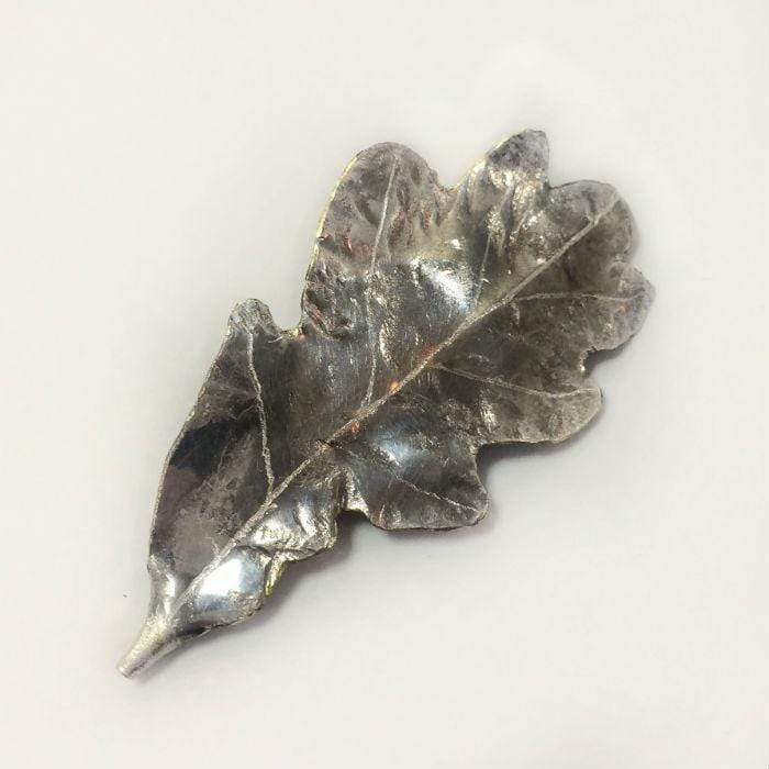 Silver Oak Leaf Brooch