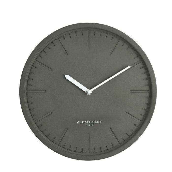 Simone Dark Concrete Wall Clock