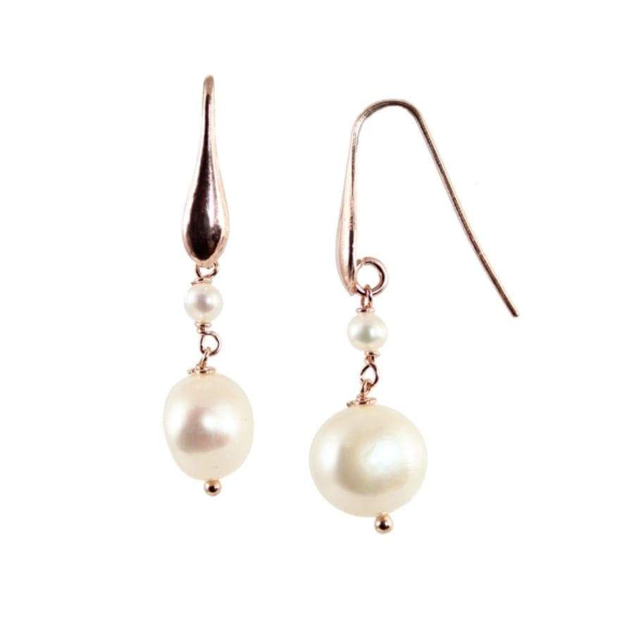 Simply Italian 2 white pearl drop hook Earring