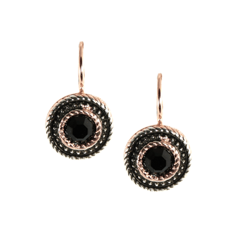 Simply Italian Black and Fume Surrounding Earrings