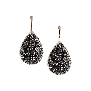 Simply Italian Fume Crystal Teardrop Earrings