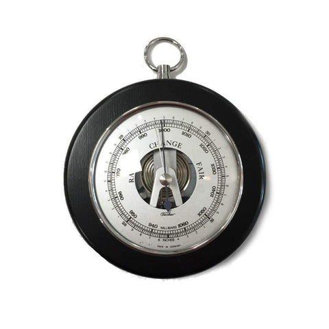 Small Black and Chrome Fischer Barometer