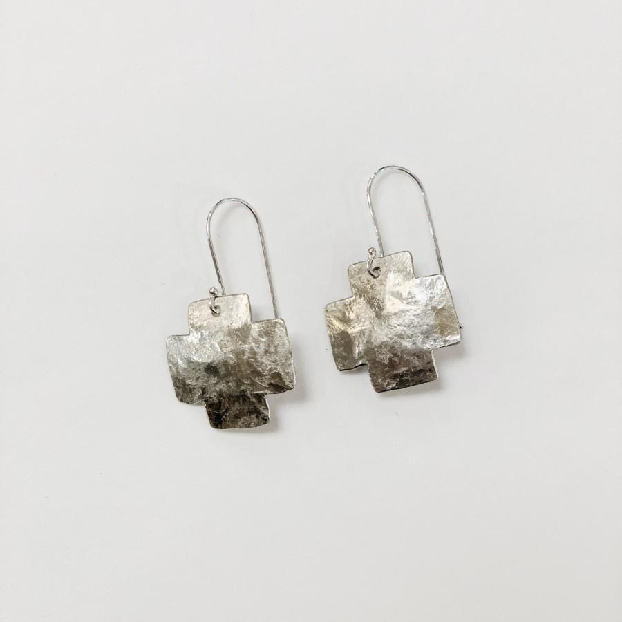 Small Flying Dog Earrings | Cross