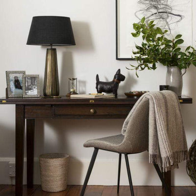 Solid Brass Lamp + Shade