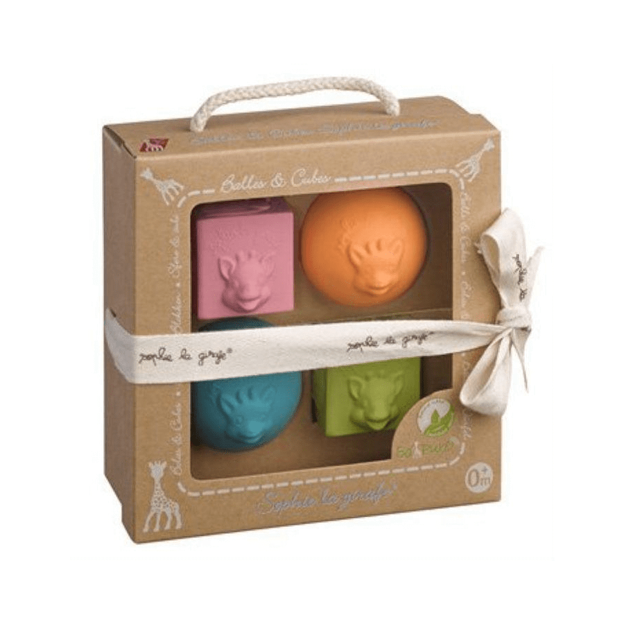 Sophie La Girafe Ball and Cube Set