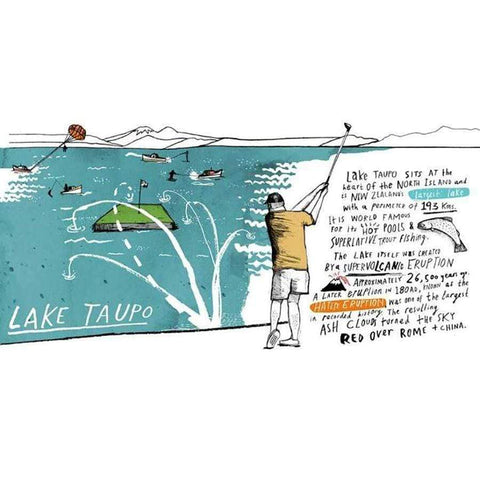 Lake Taupo Print - New Zealand Art