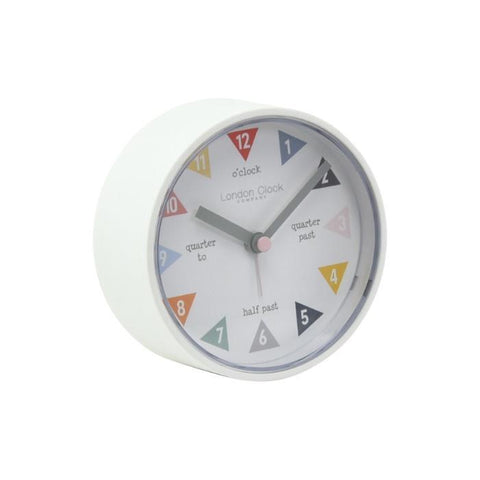 Tell the Time White Silent Alarm Clock