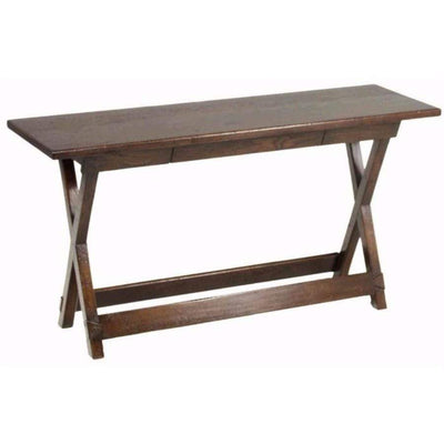 Trestle Hall Table in Oak