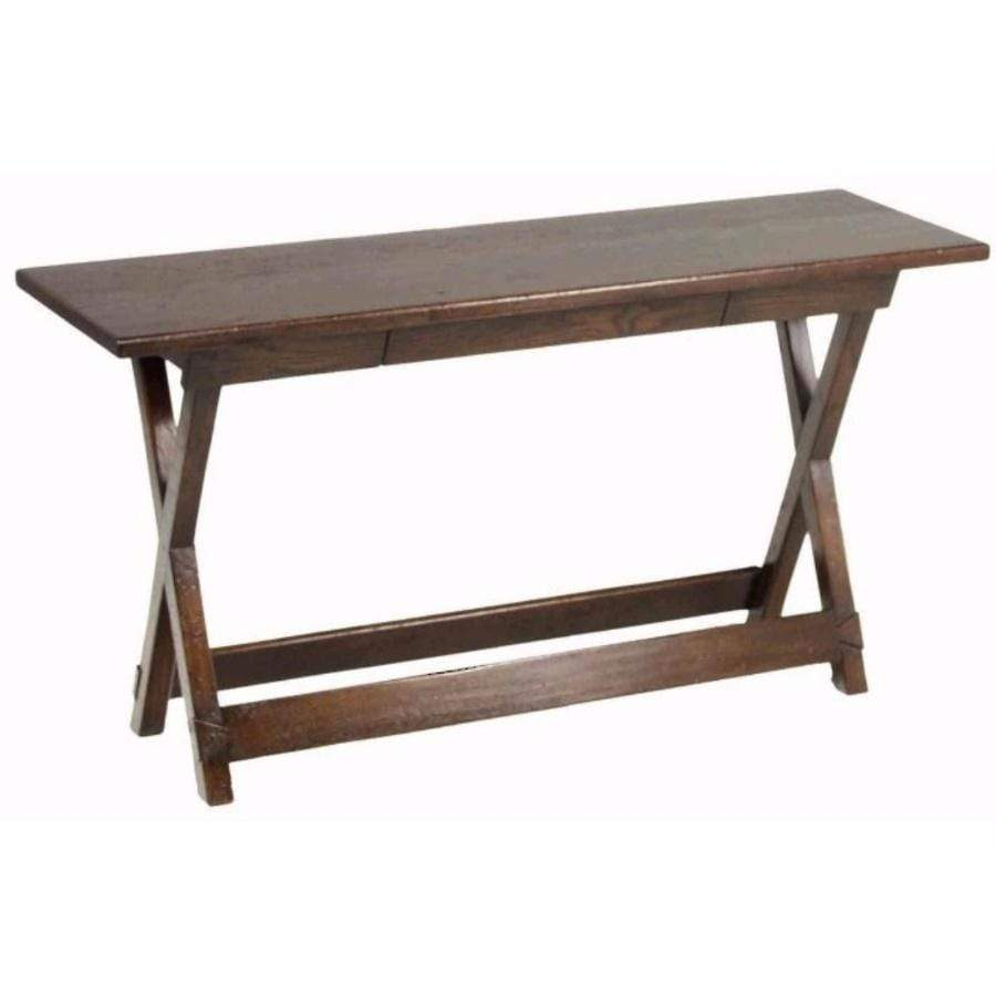Trestle Hall Table w Drawer
