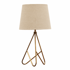 Tripod Lamp in Antique brass and Shade