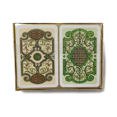 Vintage Garden Art Bridge Playing Cards