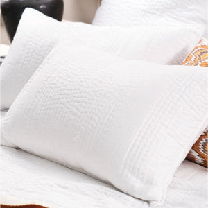 White Bianca Lorenne Ricamo Pillowsham