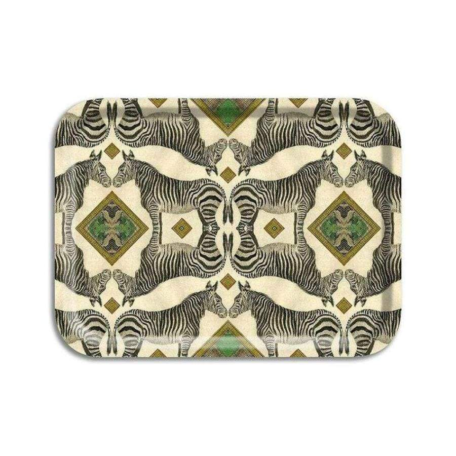 Wildlife Zebra Birchwood Tray Small