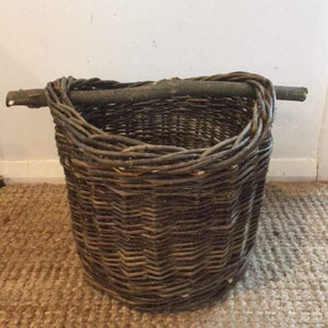 Willow Basket with Log Handle - NZ Made