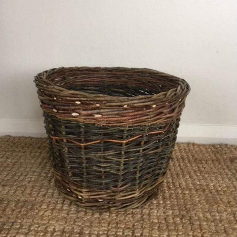Willow Medium Round Kindling Basket - NZ Made
