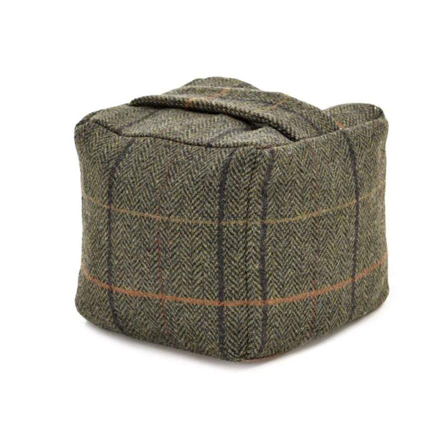 Wool Door Stop | Chocolate Tweed