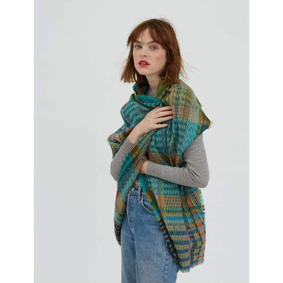 Wool/Mohair- Lore Wrap- Turquoise