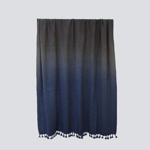 Yak Wool Throw - Navy Ombre