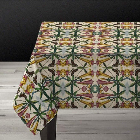 Yellow Flower- Linen Tablecloth