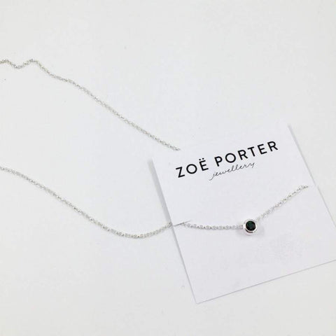 Zoe Porter Floating Charm Necklace / Green Tourmaline