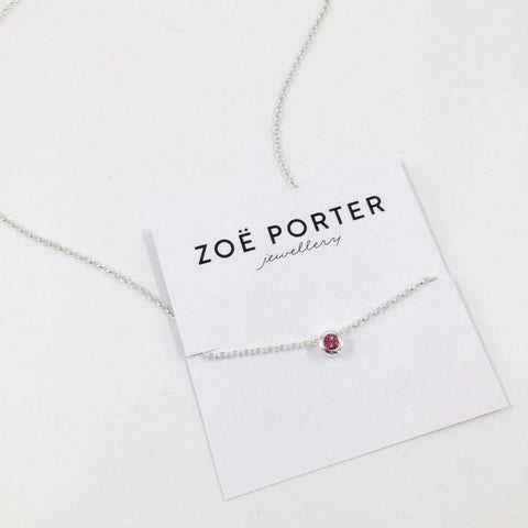 Zoe Porter Floating Charm Necklace / Pink Tourmaline