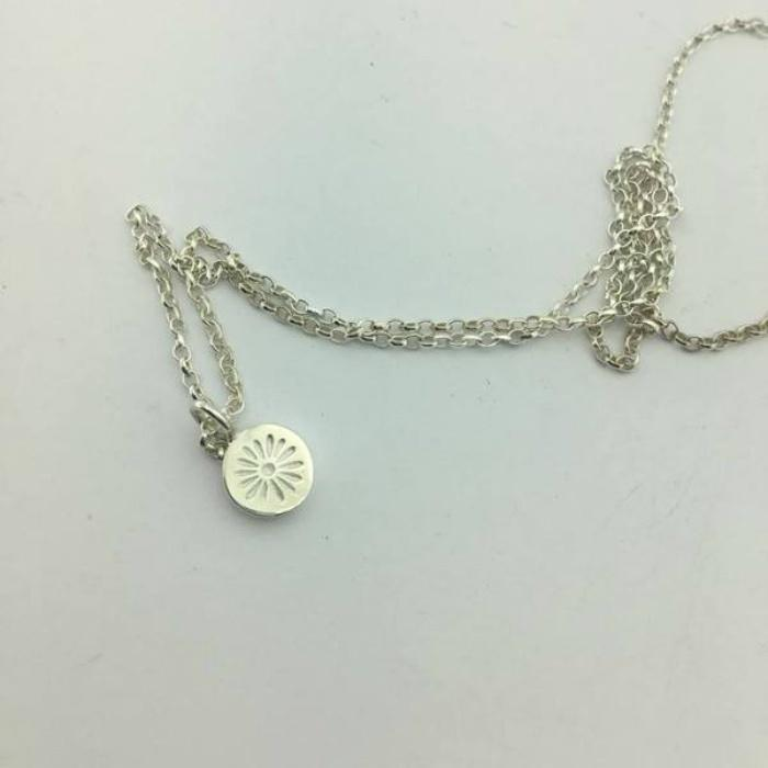 Zoe Porter Silver Daisy Imprint Necklace