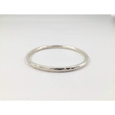 Zoe Porter Silver Hammered Bangle