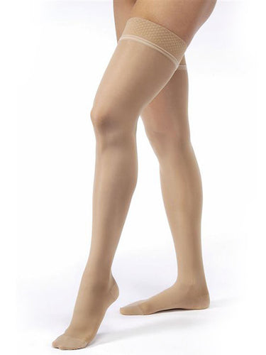 JOBST ULTRASHEER 15-20MMHG,THIGH HIGH, DOT BAND