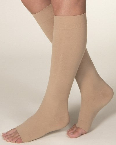 JOBST OPAQUE 15-20 MHG, KNEE HIGH, OPEN TOE