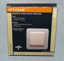 MSC1044EPZ OPTIFOAM 4X4 WITH 2.5 X 2.5 PAD, ADHESIVE,STERILE BY MEDLINE