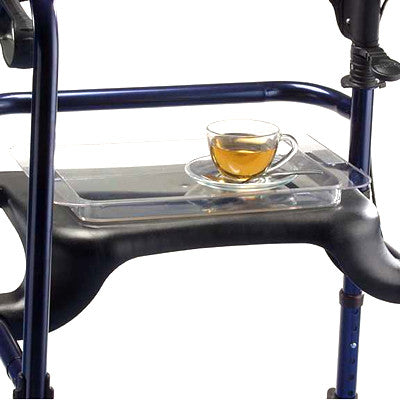 65408 ROLLATOR TRAY Can be used on the 6300-JRA, 6300-ATA, and on all Rollites. Supports up to 5 lbs and can be used for food and beverage placement.