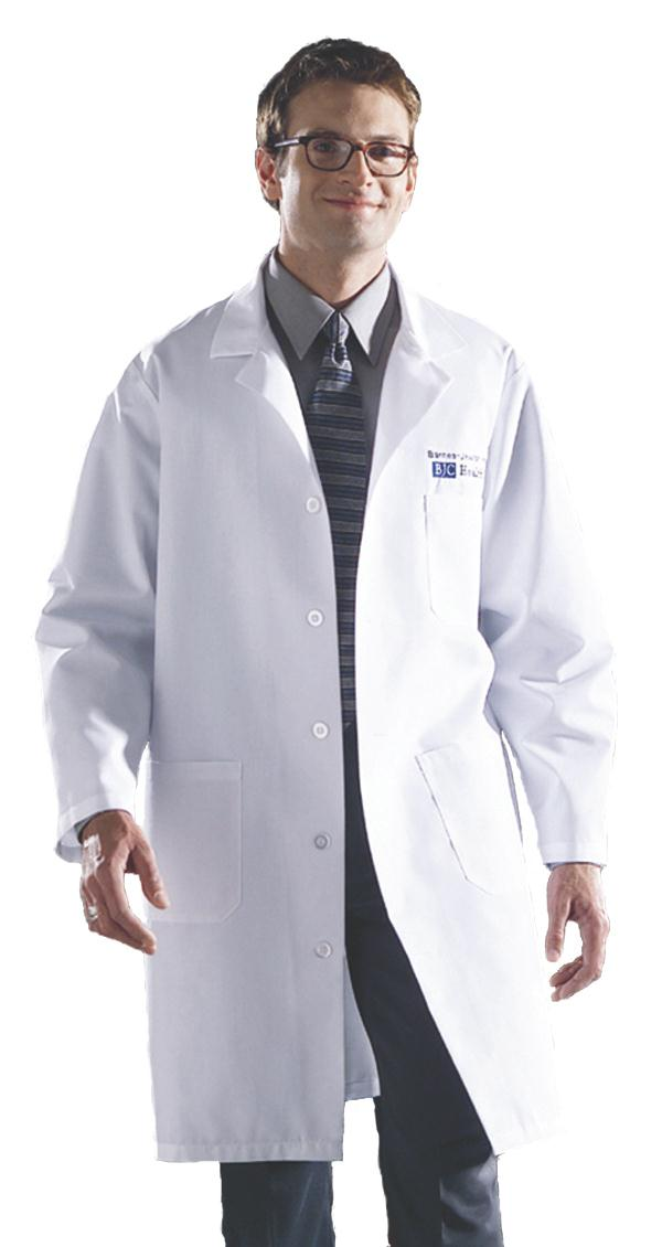 Unisex Knee Length Lab Coats, SMALL - 83044QHWS