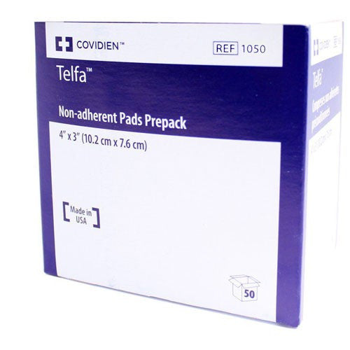 1050 Telfa Ouchless Cotton 3 X 4 Inch