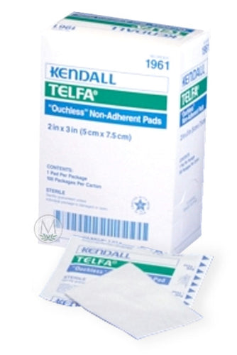 1961 Telfa Ouchless Cotton non-adherent pads 2 X 3 Inch