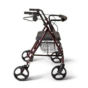 AR-46403AR Extra Heavy Duty Steel Rollator, Burgundy, Weight limit 400 lbs BY DALTON MEDICAL