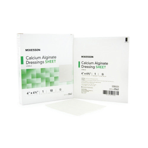 35262100 Calcium Alginate Dressing McKesson Square 4 X 4 Inch