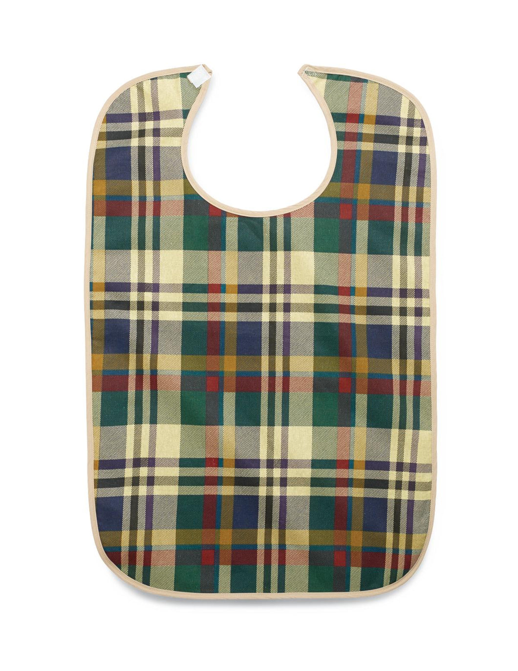 Impervious Tartan Print Hook and Loop Closure Clothing Protectors - MDTAB3I33PLD
