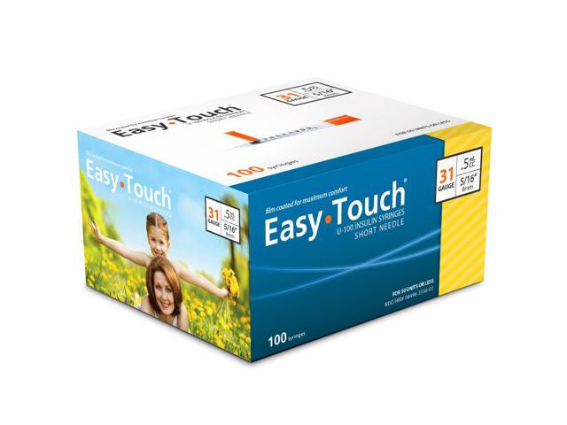 831565 EASY TOUCH INSULIN SYRINGE 31G, .5CC