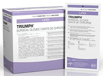 MSG2255 Triumph Latex Powder-Free Surgical Gloves 1 pair