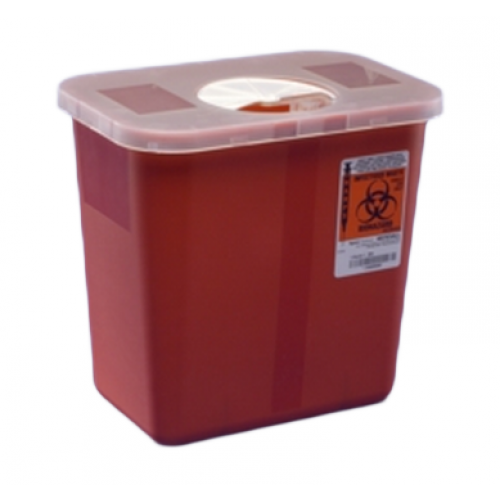 8970 Sharps Containers by Covidien, 2 GAL, MULTI USE, RED