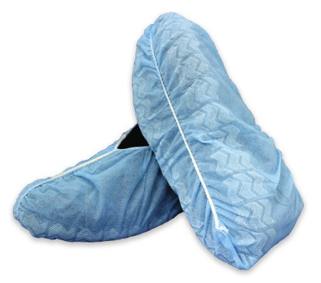 16-3510 Shoe Cover McKesson One Size Fits Most Shoe-High Non-Skid Blue NonSterile