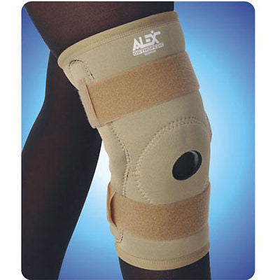 KNEE BRACE, NEOPRENE, BLACK