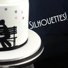 Custom made icing silhouettes for special cakes