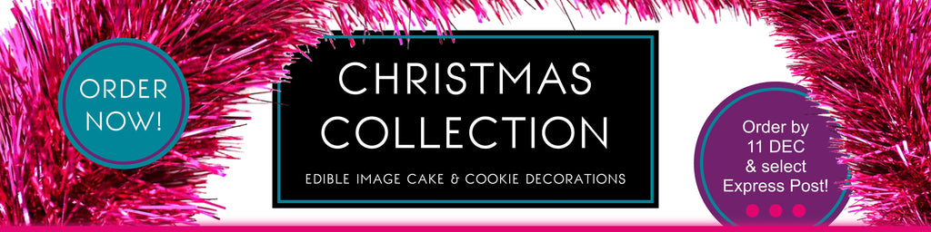 Custom Icing Christmas Collection edible images for cake and cookie decorating