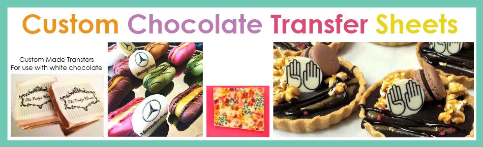 Custom Chocolate Transfer Sheets custom icing choco transfers