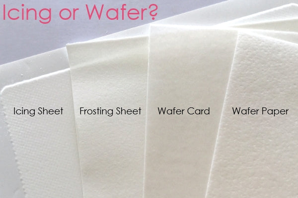 4 types of edible paper icing and wafer