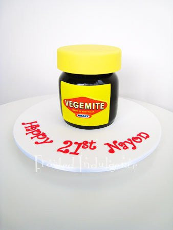 Frosted Indulgence Vegemite Jar cake