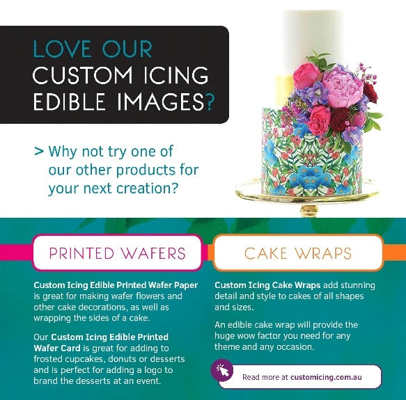 Custom Icing premium edible images and customer service