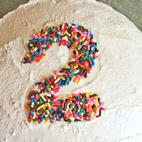 Number 2 in sprinkles