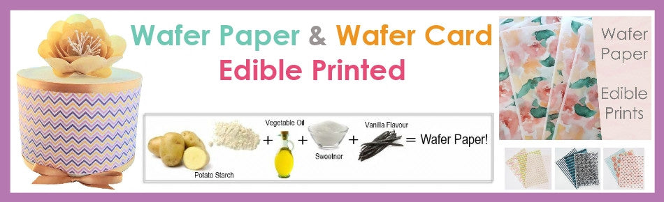 Edible Printed Wafer Paper and Wafer Card sheets custom icing